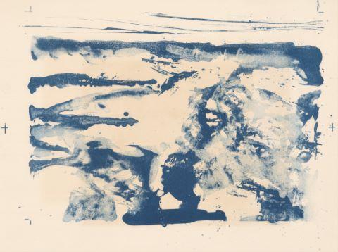 Composition bleue & Le Petit vitrail [recto/verso]