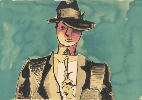 Homme au chapeau