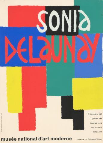 Affiche de l'exposition de l'artiste au Musée National d'Art Moderne de Paris