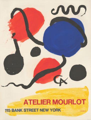 """Affiche d'une exposition """"Atelier Mourlot"""" à New York"""