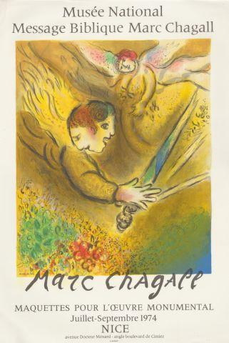 Affiche d'une exposition au Musée national du Message Biblique à Nice