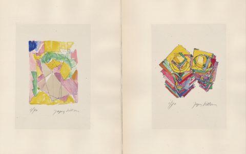 Suite de 6 lithographies sur papiers