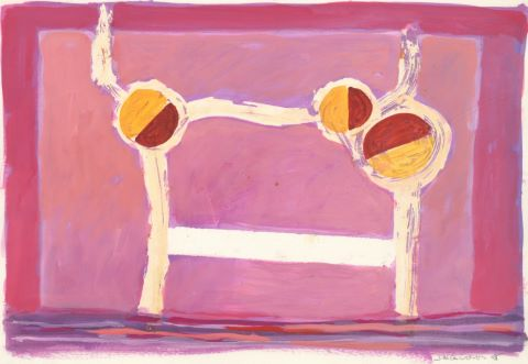 Compositions sur fond rose [2 œuvres]