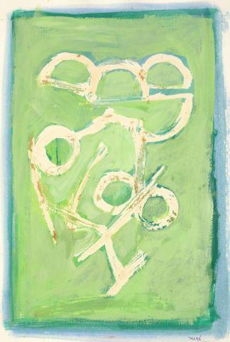 Compositions sur fond vert [2 œuvres]
