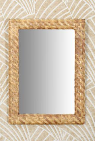 2 miroirs en rotin