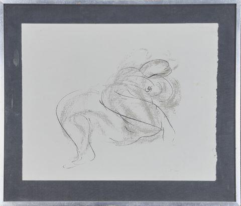 "Nu féminin de la série ""Lespugue"", poème de Robert Ganzo"