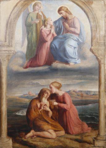 Scène religieuse, tableau d'autel