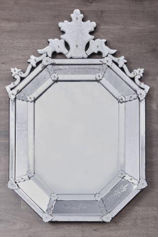 Miroir octogonal à pans et parecloses