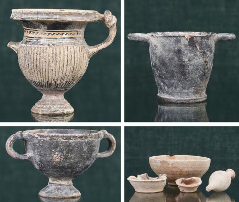 Ensemble de 7 objets antiques