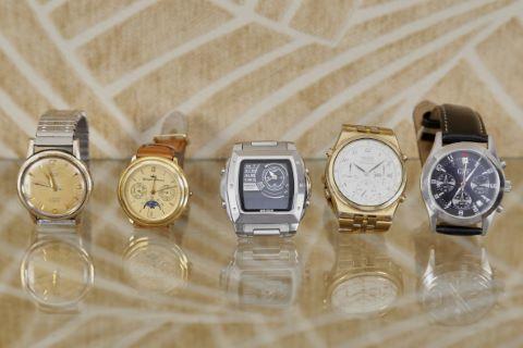 5 montres bracelet d'homme