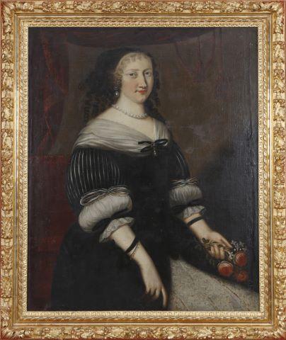 Portrait de jeune femme aux roses