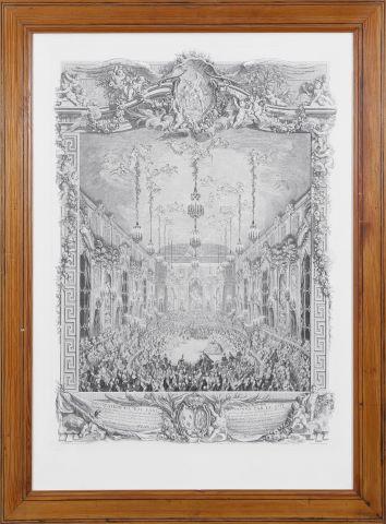 Décoration du bal paré donné par le roi le 24 février 1745