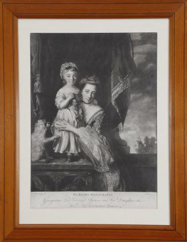 Georgiana Lady Viscountess Spencer and her daughter