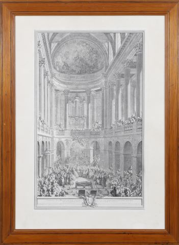 Cérémonie du mariage de Louis Dauphin de France avec Marie-Thérèse Infante d'Espagne