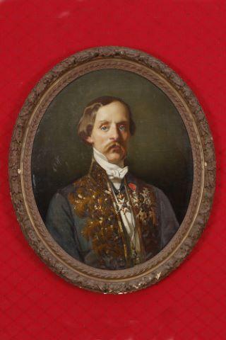 Portrait d'homme en tenue d'académicien