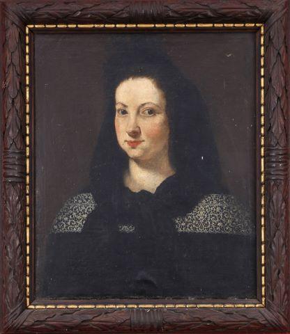 Portrait de Denise de Maillé vicomtesse de M.