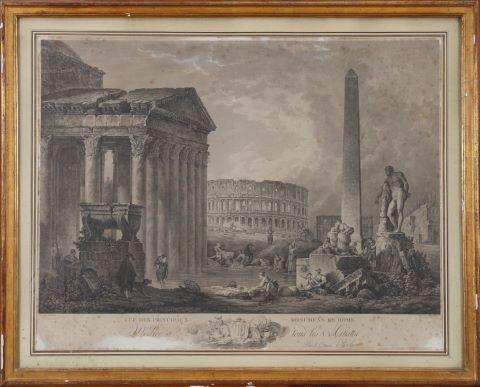 Vue des principaux monuments de Rome