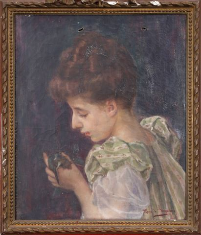 Jeune fille à l'oiseau