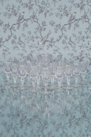 Partie de service de verres modèle Camargue [29 pièces]