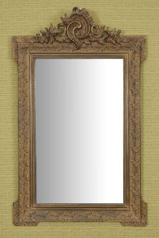 Miroir rectangulaire à fronton ajouré