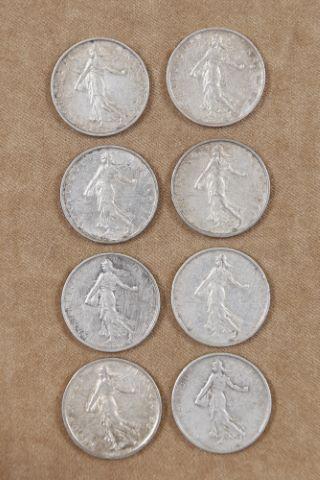30 pièces de 5 francs semeuse