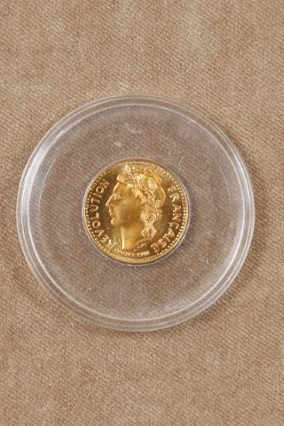 """Marianne, médaille commémorative, série """"Prestige"""", n°417"""