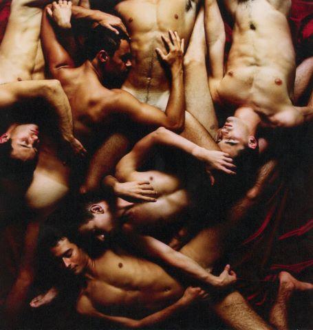 Composition d'hommes dénudés