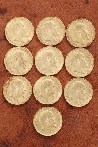 10 pièces Souverain Edouard VII or