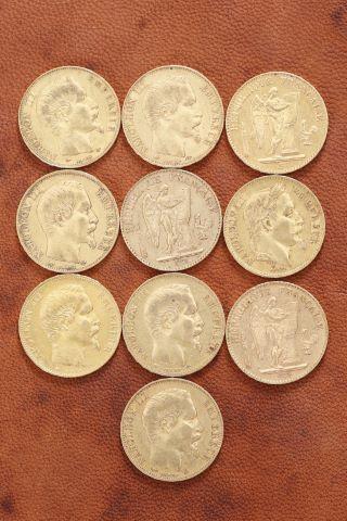 10 pièces 20 francs Napoléon III or
