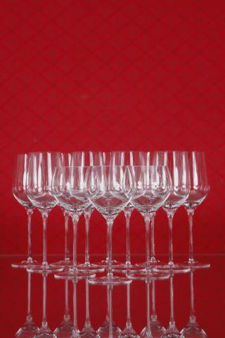 11 verres à vin blanc jeune et 9 verres à vin blanc bouquet, collection Fuga-lisse