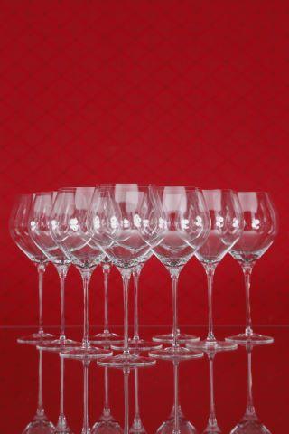 10 verres à vin rouge de Bourgogne Grand Cru, collection Fuga-lisse