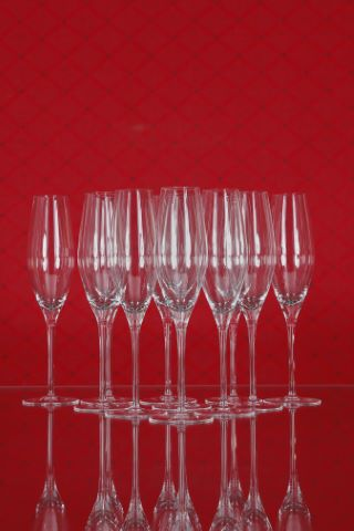 11 verres à vin vin mousseux, collection Fuga-lisse