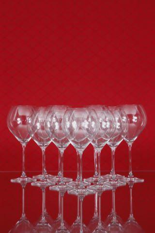 6 verres à vin rouge de Bourgogne Grand Cru et 6 verres à vin rouge de Bourgogne, collection Drop