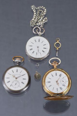3 montres de poche
