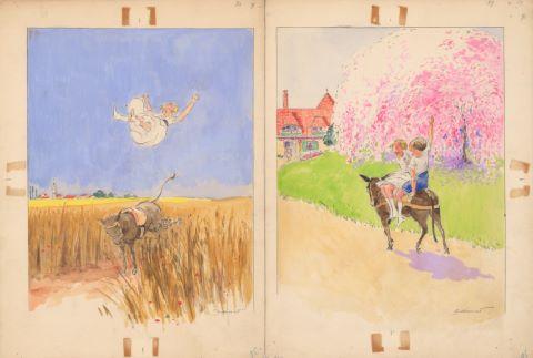 6 illustrations pour Les Malheurs de Sophie, éd. Hachette
