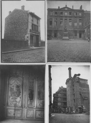 Environ 28 tirages photographiques anciens figurant des vues de Paris et des Parisiens