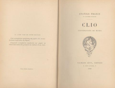 Clio. Illustrations de Mucha