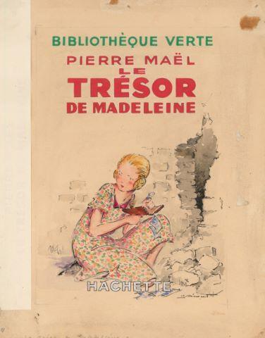 Le Trésor de Madeleine de Pierre Maël, maquette de couverture