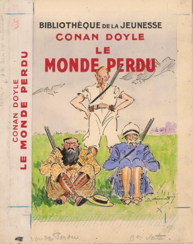Le Monde perdu de Conan Doyle, maquette de couverture