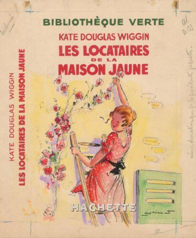 Les Locataires de la maison jaune de Kate Douglas Wiggin, maquette de couverture