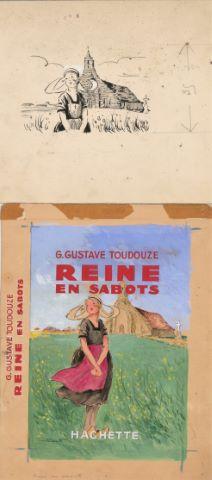 Reine en sabots de G. Gustave Toudouze, maquette de couverture