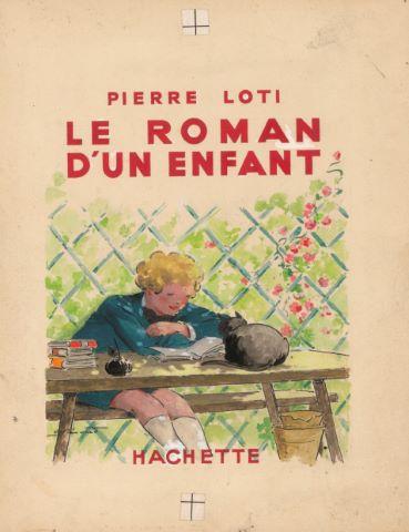 Le Roman d'un enfant de Pierre Loti, maquette de couverture
