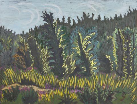Genévriers dans le vent - Express - Hommage à Van Gogh