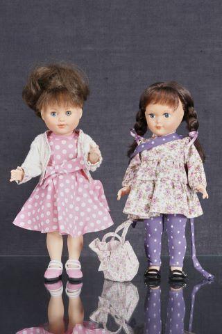 2 poupées, modèles Francette & Marie-Françoise