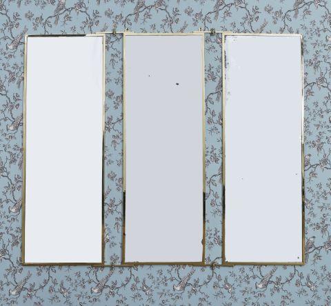 Miroir triptyque d'applique