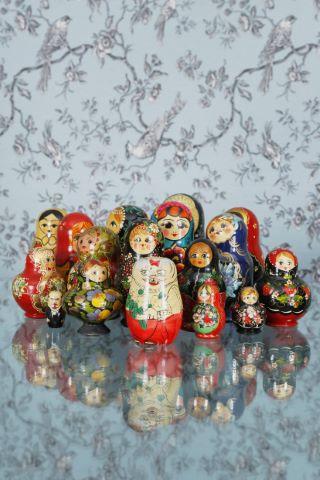 Collection de poupées russes / matriochkas [15 pièces]