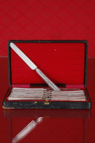 Suite de 12 couteaux à fruit