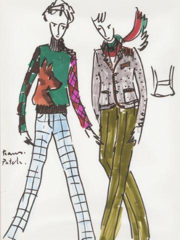 Étude de vêtements