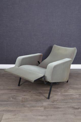 Fauteuil à dossier inclinable et repose-pieds escamotable, modèle Easy Chair Trelax