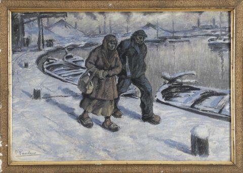 Couple de travailleurs